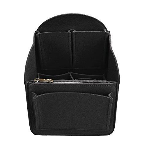 Yuena Care Taschenorganizer Handtaschenordner Bag in Bag aus Filz Schwarz S