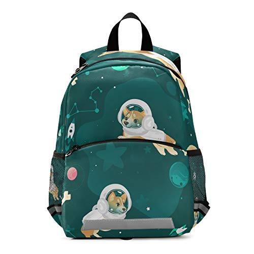 Mnsruu Mochila para niños, bolsa de escuela de perro en el espacio para jardín de infancia, bolsa de viaje para niños pequeños