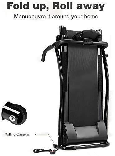 FIT4HOME F4H JK02 Olympic Motorised Folding Treadmill Running Machine Black White