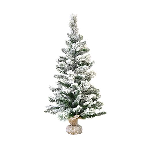 XONE Pinetto del Nord innevato 90cm in PP+PVC | Mini Albero di Natale Artificiale con Base in Juta con Neve