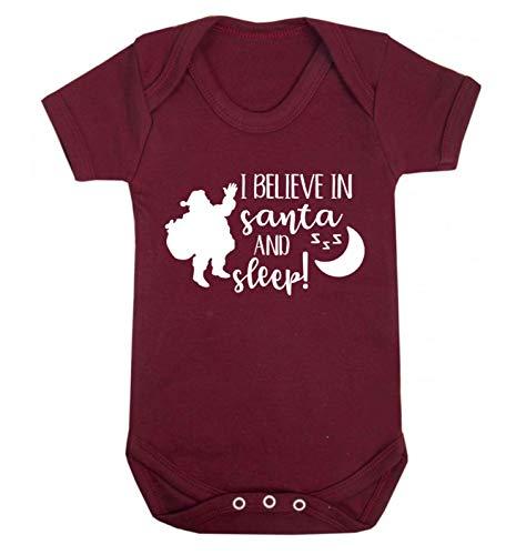 Flox Creative Baby Gilet Believe in Santa and Sleep - Rouge - XS