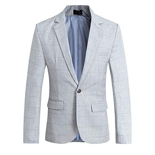 Allthemen Chaqueta Casual para Hombre Slim Fit Tweed Chaqueta a Cuadros Traje Trajes a Cuadros Blazer Abrigo Un botón Trajes Esmoquin