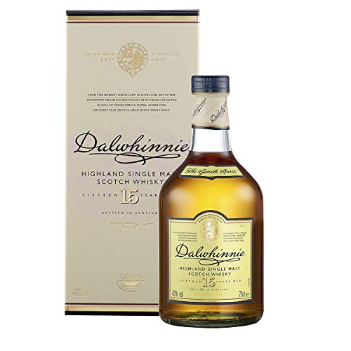 Dalwhinnie 15 anni Scotch Single Malt – Whisky Scozzese puro malto confezione regalo - 700 ml