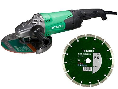 HiKOKI G23SW2 Smerigliatrice, 2200 W, 230 V, Verde/Nero