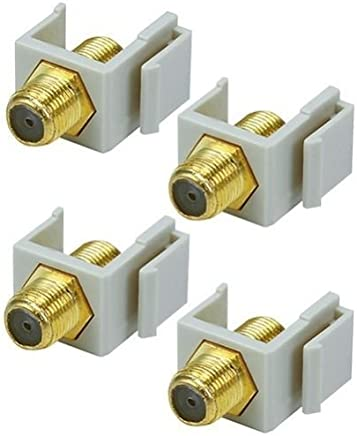 10pcs Pack Blank Insert F Type Coax Connector For Keystone Wall Plate Ivory