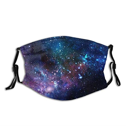 ComfortableWindproofmask,Outer Space Galaxy Stary,PrintedFacialdecorationsforadult