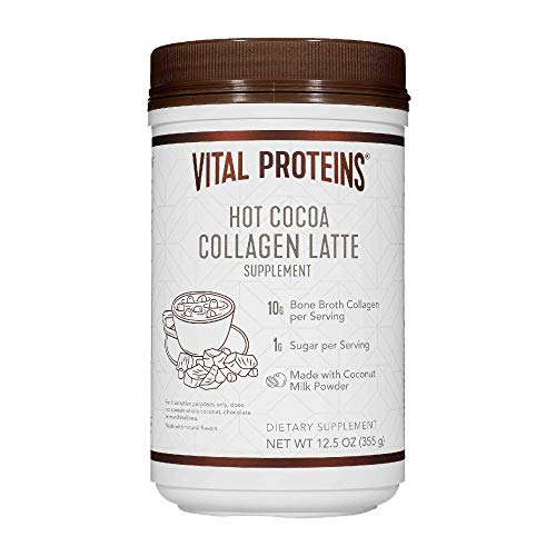 Vital Proteins Collagen Lattes - MCTs for Keto, 10g of USDA Organic Bone Broth Protein, Low Sugar, (Chocolate Cherry Almond)