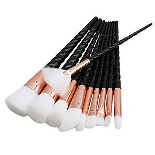 HFDJTAFS Professionnel 5/10 Pcs Blanc Poignée Maquillage Brosses Ensemble Fondation Mélange Blush Visage Ombrage Cosmétique Brosse Maquillage Kit 5 Couleurs