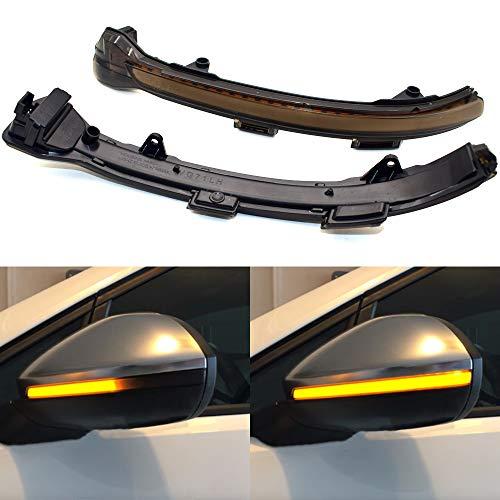 Piaobaige Geräuchertes Durchflusslicht Seitenspiegel Fließendes Dynamisches Blinker-Led Blinkerlicht Für Vw Golf Mk7 7 7.5 GTI R Neuer Touran Sportsvan