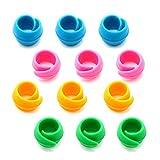 WJUAN 12 Piezas Abrazaderas de Carrete, Porta Hilos de Silicona que Evita que el Hilo se Desenrolle para Carretes de Coser y Carretes de Hilo de Máquina de Bordar (4 Colores)