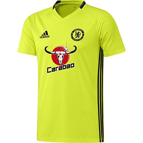 adidas Chelsea TRG JSY Camiseta, Hombre, Amarillo/Negro/Rojo (Amasol/Negro/Granit), L
