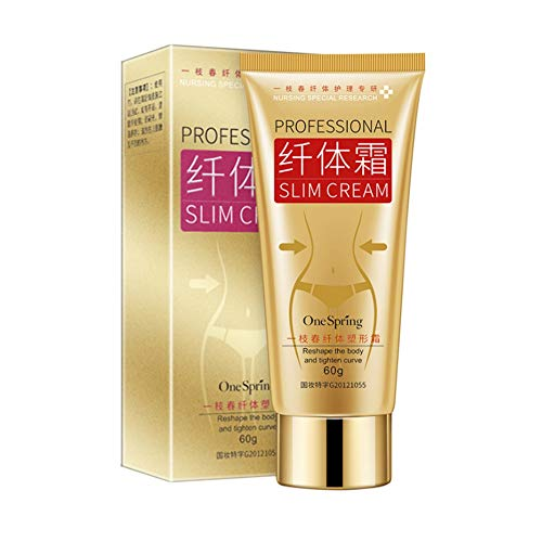 Slim Cream 60g, Cellulite Removal Cream Fat Burner Weight Loss Slimming Creams Leg Body Waist Effective Anti Cellulite Fat Burning