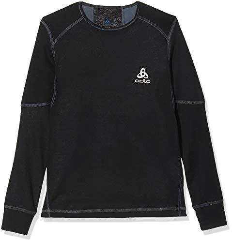 Odlo Kinder Jungen Shirt Long Sleeve Crew Neck X-Warm Unterhemd, Schwarz (Black 15000), 164