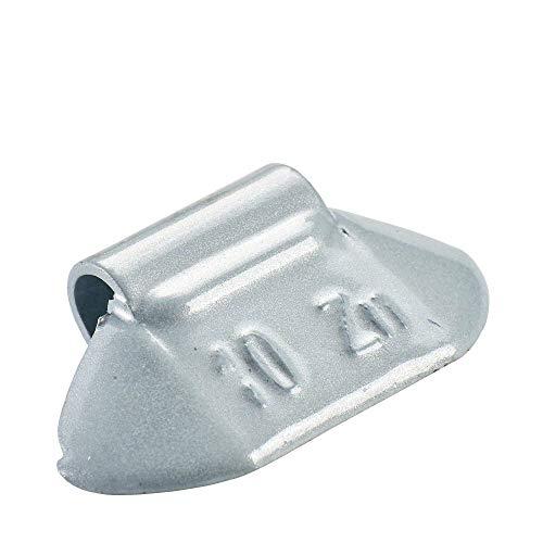 Poids d'équilibrage des jantes en acier 10g | 100x Poids marteau revêtus argentés, Poids d'équilibrage marteau pour jante en acier