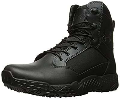 Under Armour Women's Stellar Military and Tactical Boot, Black (001)/Black, 9