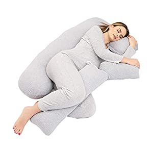 TELER Pregnancy Pillows,Pregnancy Pillow U-Shaped Full Body ,Pregnancy Gifts Maternity Pillow Support Detachable Extension