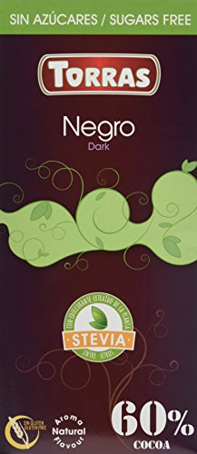 Torras Chocolate Negro 60 % con Stevia, 100g