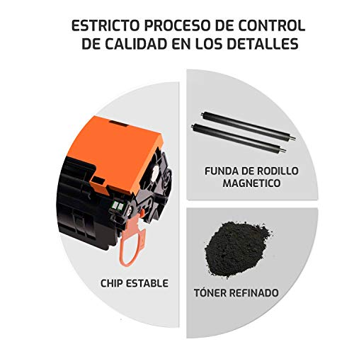 QP44AD 2 Cartuchos de tóner Compatible para HP CF244A 44A para HP Laserjet Pro M15a, M15w, MFP M28a, MFP M28w Impresora