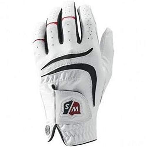Wilson Golf WGJA00680M Gants de golf (Main Gauche )Homme, Blanc, M