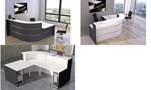 Bari kleine L-Theke für Büro & Praxis/mit Beratungsplatz/Anthrazit