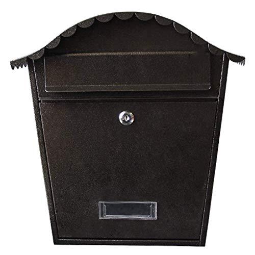 aipipl Wand Briefkasten aus verzinktem Stahl Außen Briefkasten abschließbar wetterfest Außen Briefkasten 6Colors Briefkästen Zubehör American Style