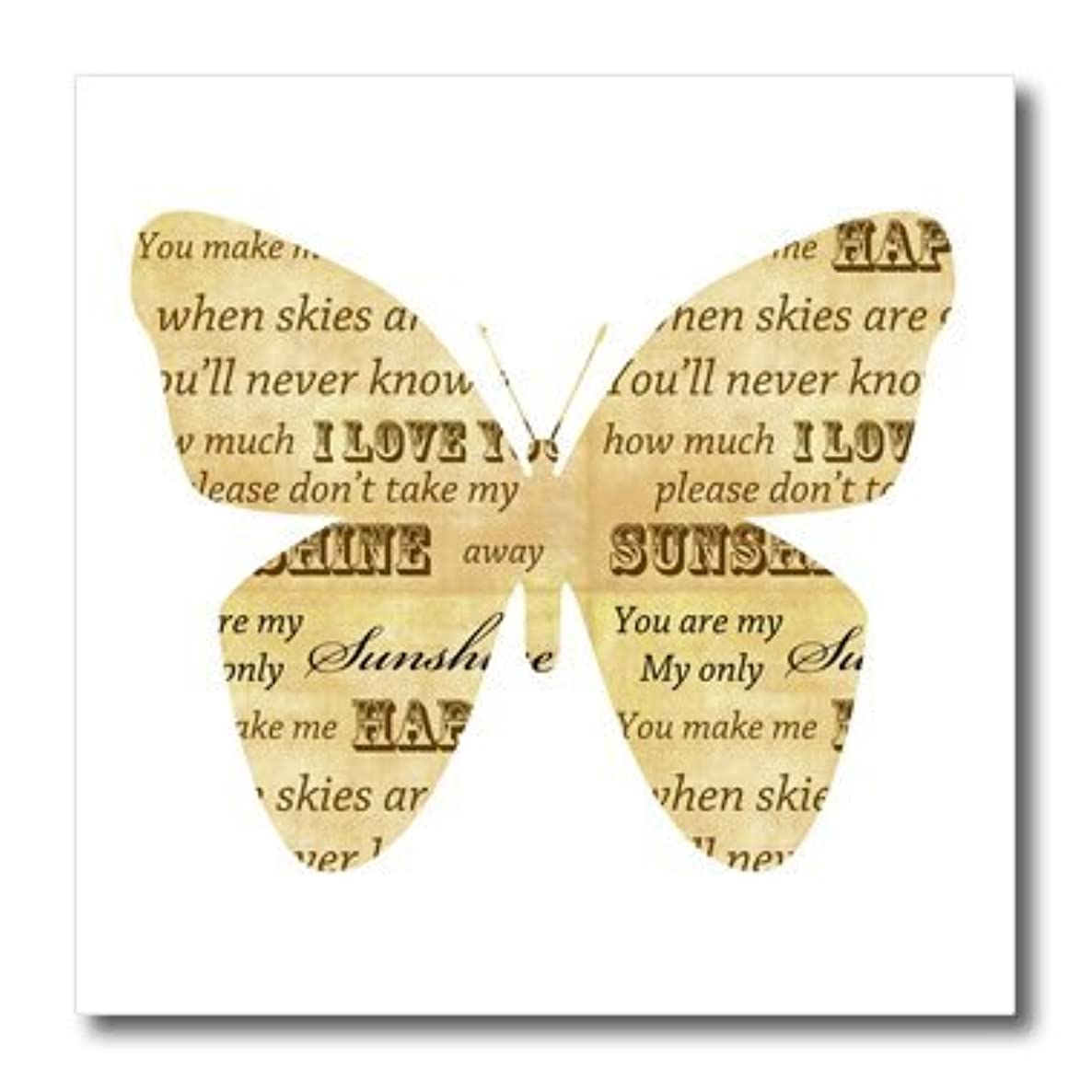 3dRose ht_110500_1 You are My Sunshine Inspirational Butterfly-Iron On Heat Transfer, 8 by 8