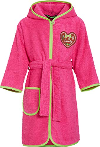 Playshoes Mädchen Frottee Sweety Bademantel, Rosa (Pink 18), 98 (Herstellergröße: 98/104)