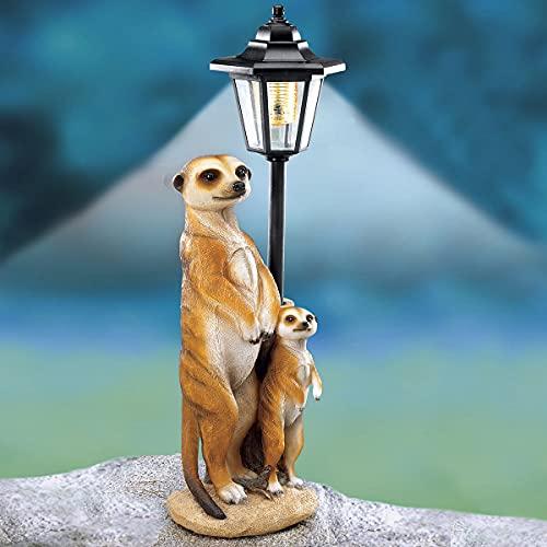 TRI Solarlaterne Erdmännchen, Laterne für außen, Wetterfest, Stehend, Gartendeko, Gartenfigur Solar, Dekofigur mit Licht