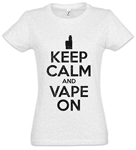 The Mermaid Conviction Keep Calm and Vape On Mujer Girlie Women T-Shirt Tamaños XS – 2XL