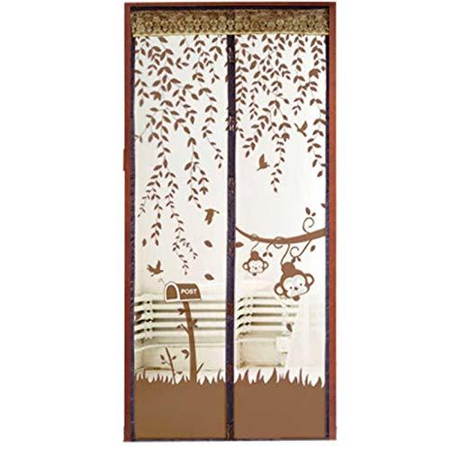 Nuevo verano durable adsorción automática magnética anti-mosquitos mosquitera puerta cortina puerta pantalla partición cocina ventana cortina color A3 W110xH210