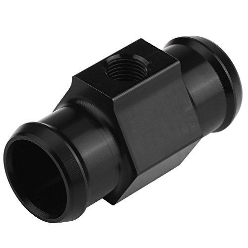 Adaptador del sensor de temperatura del agua de la motocicleta, medidor de temperatura del agua de aluminio de Keenso Adaptador del sensor del radiador de tubería conjunta con 2 abrazaderas(22mm)