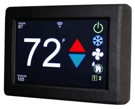 Hutch Mountain Micro-Air EasyTouch Digital RV Thermostat Wireless WiFi ASY-350-X01 (Black)
