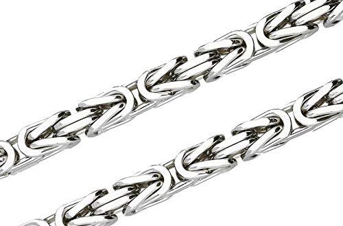 Königskette 925 Sterling Silber rhodiniert 70 cm 10,0 mm