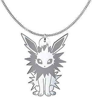 Collana Jolteon Pokémon, Sterling Silver o placcato oro 18K, gioiello regalo amicizia, migliori amici