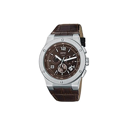 ESPRIT el101811f03 - Reloj para Hombres, Correa de Cuero Color marrón