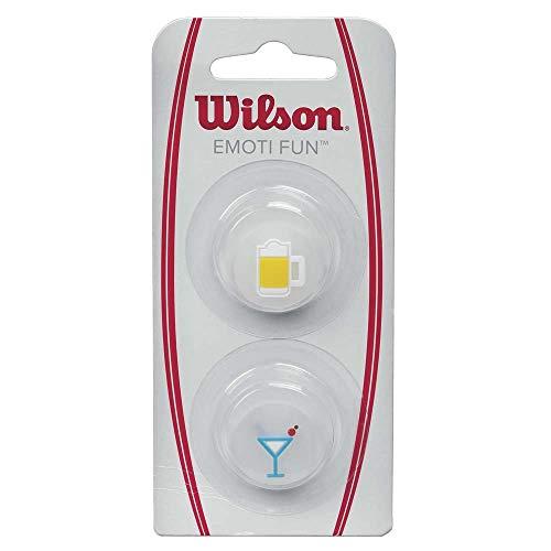 Wilson Vibrationsdämpfer für Tennisschläger, Emoti-Fun, 2er Pack, Bier/Martini-Design, WRZ538300