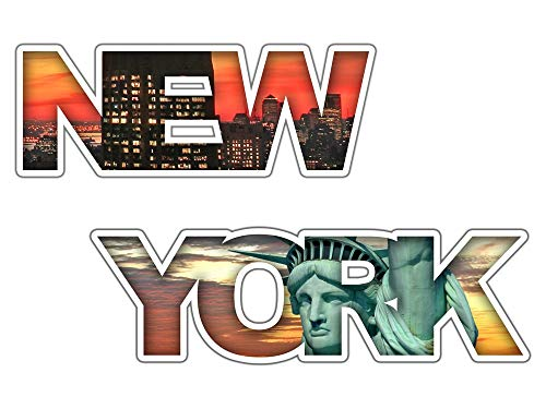 GRAZDesign Wandtattoo USA, Wandsticker New York, Wandaufkleber Freiheitsstatue / 48x30cm
