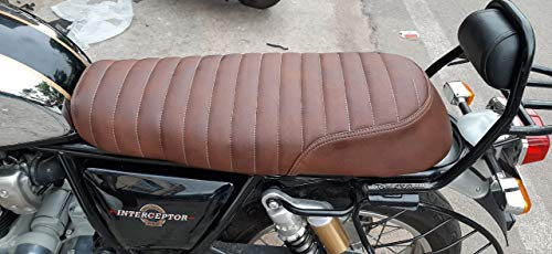 Sahara Seats Royal Enfield Interceptor 650 - Funda para asiento (polipiel), color marrón