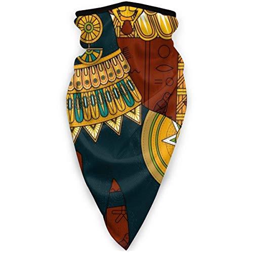 Nother Antiguo Egipto - Máscara exótica para gatos, resistente al viento, bandana para la cara, polaina, pasamontañas, color negro