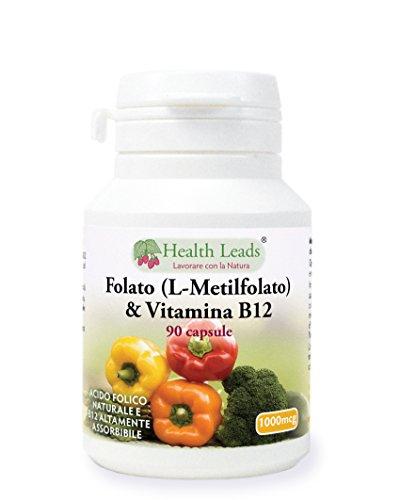 Folato 500mcg & Vitamina B12 500mcg x 90 capsule