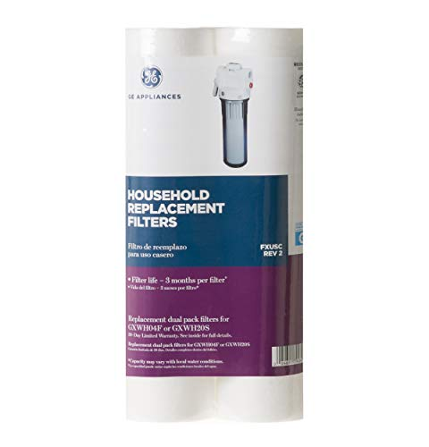 GE Appliances FXUSC Whole Home Universal System Basic Replacement Water Filter (2-pack), White