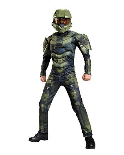 Horror-Shop Halo Master Chief Niños Disfraz De Músculo 10-12 Jahre