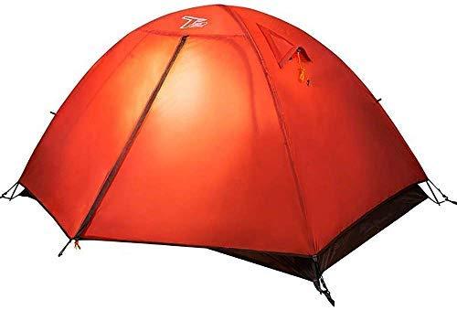 LHQ-HQ 3 Season Tienda de campaña al Aire Libre Sombra del pabellón Lona Impermeable for la Supervivencia en la Naturaleza Montañismo-2 Persona Tiendas de campaña (Color : Red)