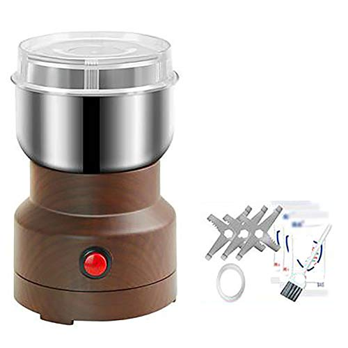 USDWRM Coffee Grinder, Electric Coffee Bean Grinder Spice Mill Grinder with Noiseless Motor, for Beans Seeds Nuts Herbs Pepper Noiseless Operation