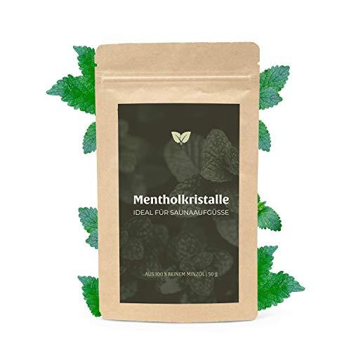 Mentholkristalle - zertifizierte Qualität - Kristalle für Sauna Aufguss - Eisminze Eiskristalle - 50g