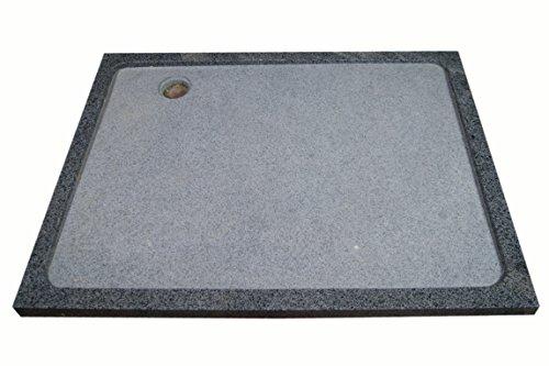 Duschwanne aus Naturstein, Duschtasse, Granit, 120 * 90cm, anthrazit, G654
