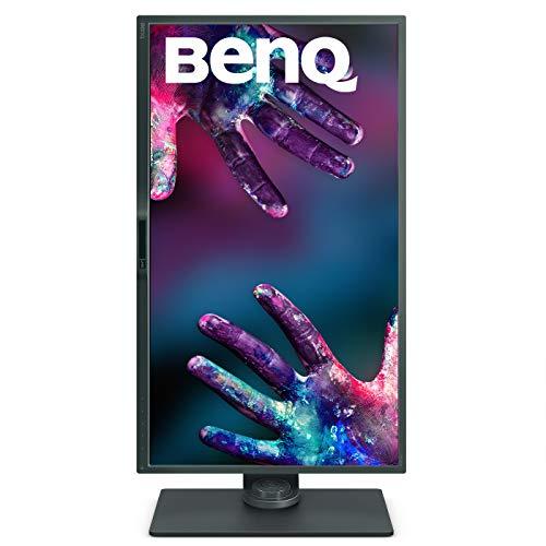 BenQ PD3200U - Monitor Profesional para Diseñadores de 32' 4K UHD (3840x2160, IPS, 100%Rec.709/sRGB, CAD/CAM, Hotkey Puk, HDMI, DP, USB, Altura Ajustable, Eye-care, antireflejos) - Negro /Gris