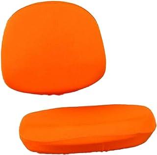 Amuzocity 1x Fundas de Silla Giratorias para Ordenador de Oficina Divididas Elásticas Universales Fundas Antideslizantes - Naranja