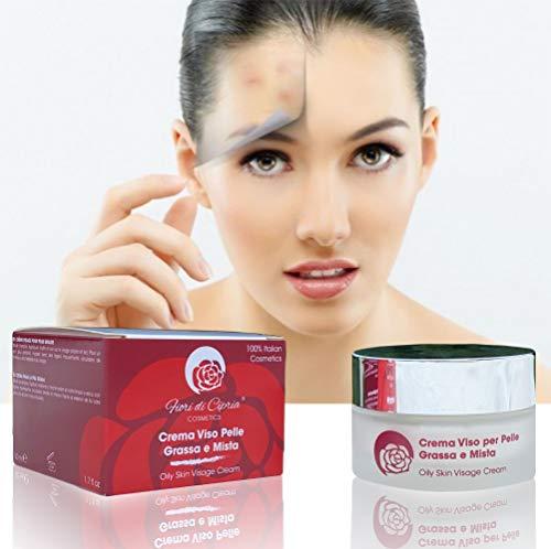 Gesichtscreme Für Fettige Haut - Mattierende Tagescreme, Pore Minimizer for Oily Skin. Helfen Die Produktion Von Talg Zu Reduzieren Und Verleihen Der Haut Einen Matten Teint Für Den Ganzen Tag, 50ml
