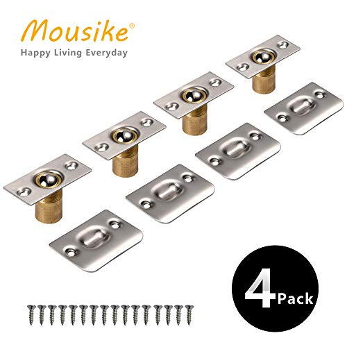 Mousike Cabinet/Closet Door Ball Catch,Stainless Steel Adjustable Ball Catch Door Hardware (4Pack)